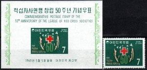 Korea #654, 654a  MNH CV $6.75 (X7574)