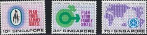 Singapore SC215-217 National Day&World Population Year MNH 1974