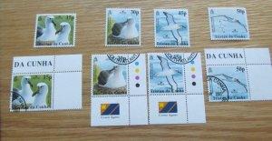 Bird Life Tristan Da Cunha Stamps Set  MNH &  Used 2003