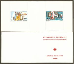 Gabon #C69a NH Red Cross Booklet