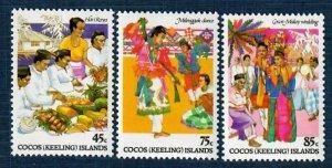 Cocos Islands 108-10 MNH Culture (SCV $2.15)