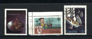Can #1009,1011-12   -2  used VF 1984 PD
