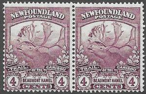 Newfoundland Scott Number 118 F NH Pair