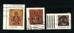 Can #1222,1224-25   -1   used VF 1988 PD