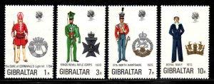 Gilbraltar # 286-89 ~ Cplt Set of 4 ~ Mint, NH