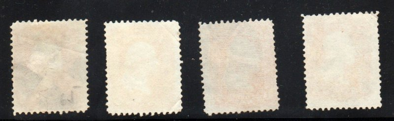 #65 THREE CENT WASHINGTONS (4 total w/fancy cancels)  ⭐⭐⭐⭐⭐