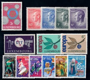 Luxembourg Luxemburg 1965 Complete Year Set MNH
