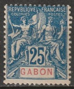 Gabon 1904 Sc 23 Yt 23 MLH* some disturbed gum
