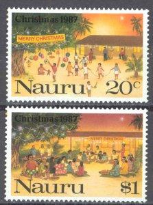 Nauru Sc# 341-342 MNH 1987 Christmas
