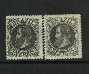 Brazil SC# 82 x 2, Mint Hinged, Hinge Remnant, see notes - S9237