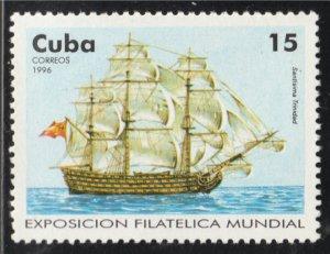 1996 Cuba Stamps Sc 3743 Sailing Ships Santisima Trinidad MNH