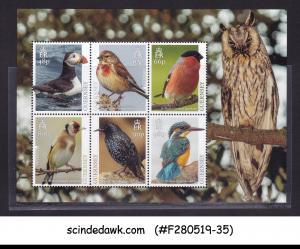 GUERNSEY - 2019 NATIONAL BIRDS - MIN. SHEET MINT NH