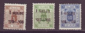 J18062 JLstamps 1902 iceland mlh #o22-4 official ovpt,s