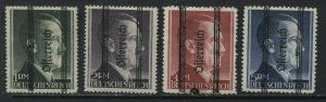 Austria Germany Hitler stamps overprinted Ostereich 1 to 5 Reich Marks mint o.g.