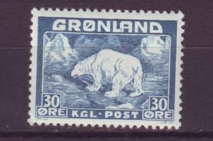 J16551  JLstamps 1938-46 greenland mnh #7 polar bear