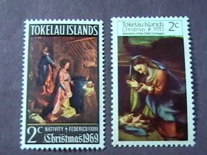 TOKELAU # 20-21 -MINT NEVER/HINGED-COMPLETE SET---QEII----1969