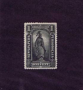 SC# PR81 UNUSED ORIG GUM LH 1 CENT NEWSPAPER PERIODICAL STAMP, 1885, VERY FINE