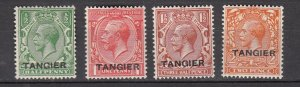 J26362  jlstamps 1927 great britain morocco set mhr #501-4 ovpt perf 15 x 14