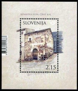 HERRICKSTAMP NEW ISSUES SLOVENIA Sc.# 1308 Rural Houses Souvenir Sheet