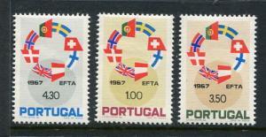 Portugal #1011-3 Mint