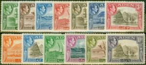 Aden 1939-45 set of 13 SG16-27 Fine Lightly Mtd Mint