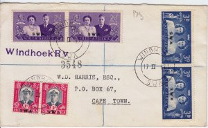 South West Africa - Cover - From Windhoek to Cape Town - 1947 - Royal Visit