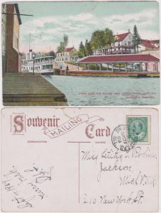 Canada - 1909 Post Card PORT CARLING HOUSE AND LOCKE #89