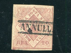 Italy  Two Sicilies #6  Used F-VF Cat $750  - Lakeshore Philatelics