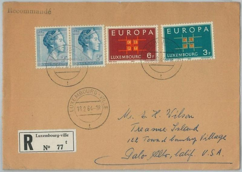 70023 - LUXEMBOURG  - POSTAL HISTORY -  COVER to the USA 1964 - EUROPA