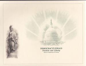 {BJ Stamps} BEP B-150 Souvenir Card ANA 1991, unused w/envelope