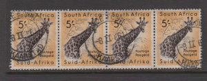 South Africa Sc#212 Used strip of 4