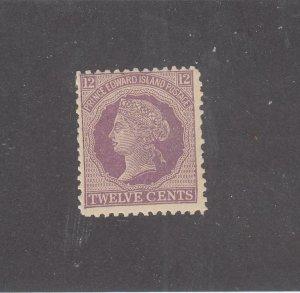 PRINCE EDWARD ISLAND # 16 VF-MNH 12cts 1868-70 QUEEN VICTORIA /VIOLET CV $20