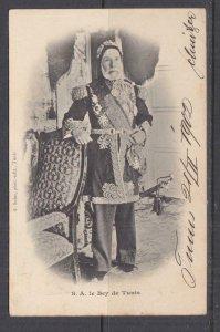 TUNISIA, 1902 ppc. Bey of Tunis, 5c. Tunis to Austria.