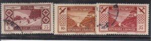 Lebanon: Sc #C53-C55, Used (34812)