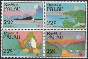 Palau 1987 MNH Sc 149a Block of 4 22c CAPEX ´87