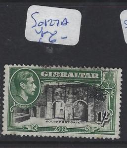 GIBRALTAR (P0504B)   KGVI  1/-  SG 127A    VFU