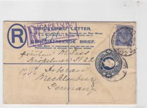 union of south africa 1926 registered  stamps cover ref r16004