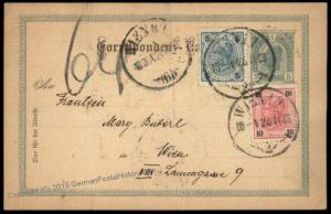Austria Empire 1903 Upfranked Rohrpost Pneumatic Mail Cover Postal Card 66917