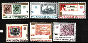 Papua New Guinea MNH 389-94 Stamps On Stamps