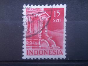 INDONESIA, 1949 used 15s, Temple, Scott 315