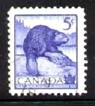 Beaver, Canada stamp SC#336 Used