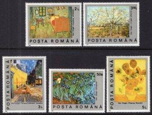 Romania MNH 3634-8 Art Paintings 1991 SCV 1.75