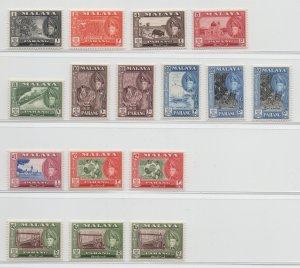 Malaya Pahang - 1957 - SG 75-86b - MNH #6