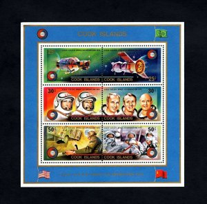 COOK IS - 1975 - SPACE - APOLLO / SOYUZ TEST PROJECT - USA & USSR + MNH S/SHEET!