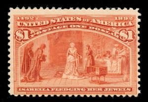momen: US Stamps #241 Mint OG Sound
