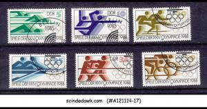 GERMANY DDR - OLYMPICS - STAMPS 6V, USED