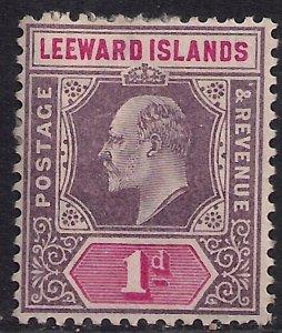 Leeward Islands 1902 KEV11 1d Purple & Carmine MM SG 21 ( G1128 )
