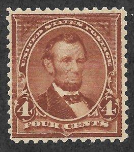 Doyle's_Stamps: Nice 1898 NH/OG 4c Lincoln, #280b**      (30)