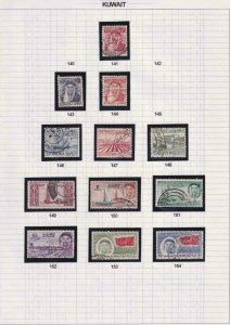 KUWAIT - INTERESTING  MINT HINGED & USED COLLECTION ON ALBUM PAGES - Z807