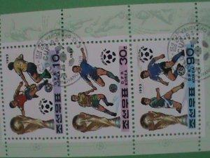 KOREA STAMP 1993 WORLD FOOT BALL CHAMPIONSHIP  ; CTO- NOT HING  S/S SHEET #2